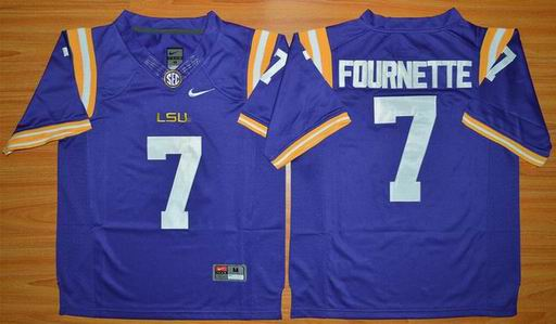 LSU Tigers Leonard Fournette 7 NCAA Football Jersey - Purple
