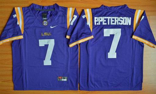 LSU Tigers Patrick Peterson 7 NCAA Football Jersey - Purple
