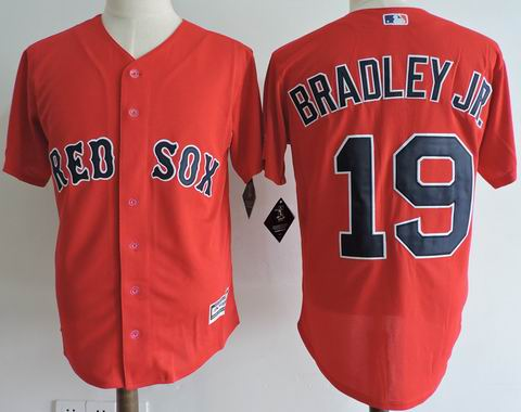 MLB Boston Redsox #19 BRADLEY JR. red jersey