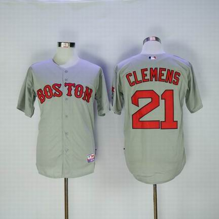 MLB Boston Redsox #21 Clemens grey jersey