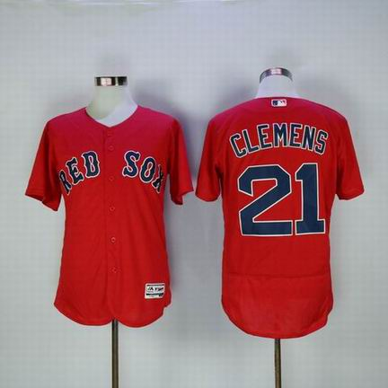 MLB Boston Redsox #21 Clemens red flexbase jersey