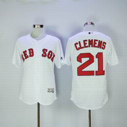 MLB Boston Redsox #21 Clemens white flexbase jersey