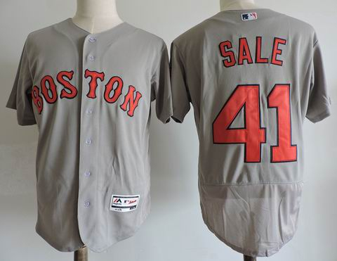 MLB Boston Redsox #41 SALE grey jersey