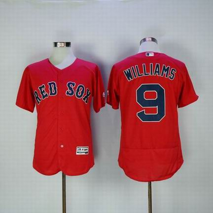 MLB Boston Redsox #9 Williams red flexbase jersey