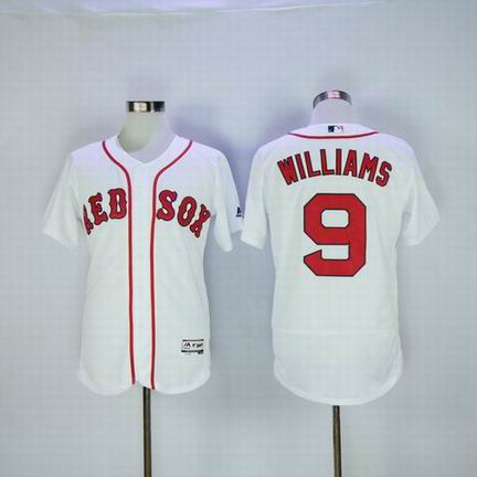 MLB Boston Redsox #9 Williams white flexbase jersey