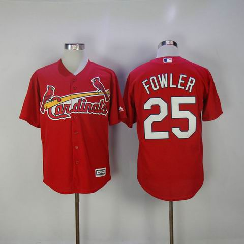 MLB Cardinals #25 Fowler red jersey