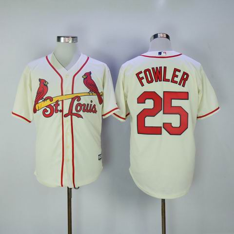 MLB Cardinals #25 Fowler rice white jersey