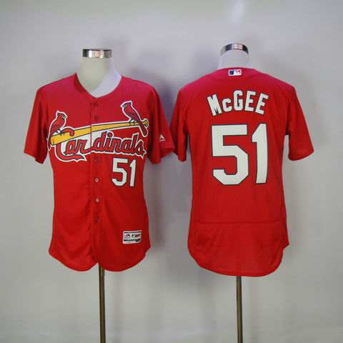 MLB Cardinals #51 McGEE red flexbase jersey