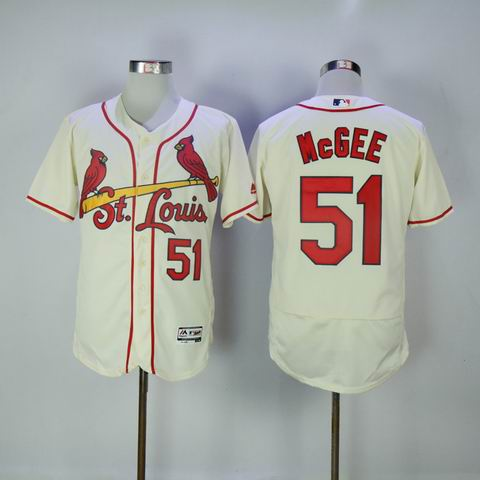 MLB Cardinals #51 McGEE white flexbase jersey