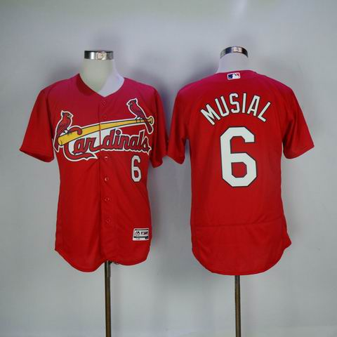 MLB Cardinals #6 Musial red flexbase jersey