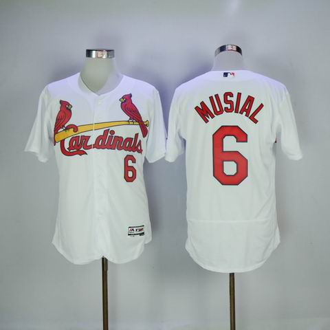 MLB Cardinals #6 Musial white flexbase jersey
