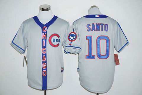 MLB Chicago Cubs #10 Ron Santo gray jersey