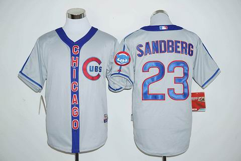 MLB Chicago Cubs #23 Ryne Sandberg gray jersey