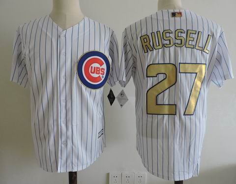 MLB Chicago Cubs #27 Addison Russell white jersey
