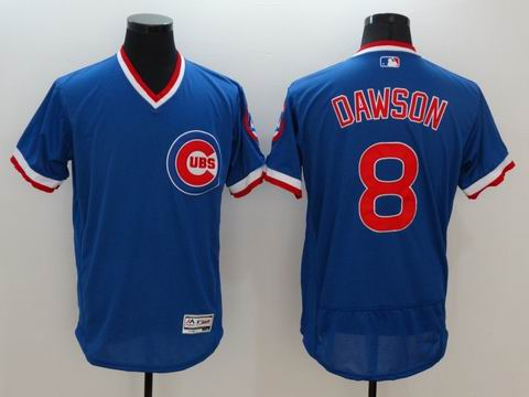 MLB Chicago Cubs #8 Andre Dawson blue jersey