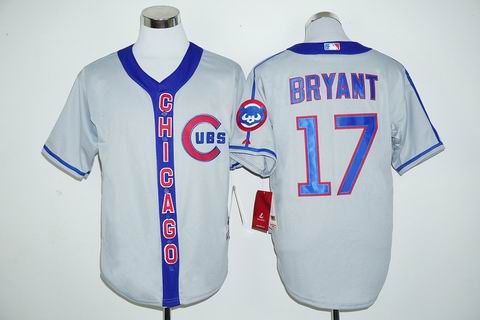 MLB Chicago Cubs 17# Bryant grey jersey