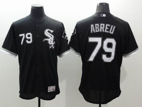 MLB Chicago White Sox #79 Jose Abreu black jersey