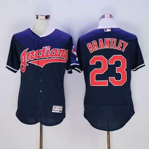 MLB Cleveland Indians #23 Michael Brantley blue jersey
