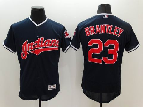 MLB Cleveland Indians #23 Michael Brantley navy blue Flexbase jersey