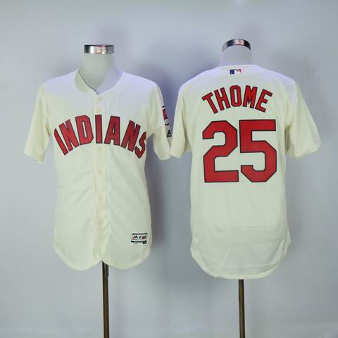 MLB Cleveland Indians #25 Thome rice white flexbase jersey