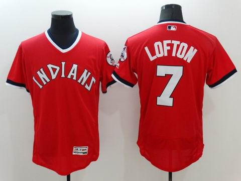 MLB Cleveland Indians #7 Lofton red flexbase jersey