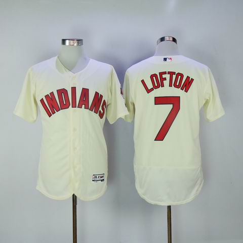 MLB Cleveland Indians 7 Lofton rice white flexbase jersey