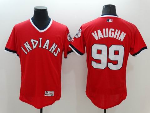 MLB Cleveland Indians 99 Vaughn red flexbase jersey