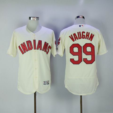 MLB Cleveland Indians 99 Vaughn rice white flexbase jersey