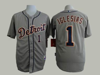 MLB Detriot Tigers 1 Iglesias grey jersey