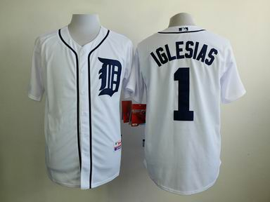 MLB Detriot Tigers 1 Iglesias white jersey