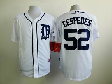 MLB Detriot Tigers 52 Cespedes white jersey