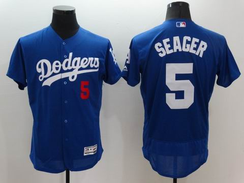 MLB Dodgers #5 Corey Seager blue flex base jersey