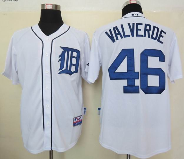 MLB Jerseys Detroit Tigers 46 Valverde White
