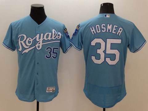 MLB Kansas City Royals #35 Eric Hosmer light blue flexbase jersey