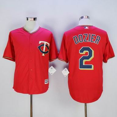 MLB Minnesota Twins #2 Brian Dozier red jersey