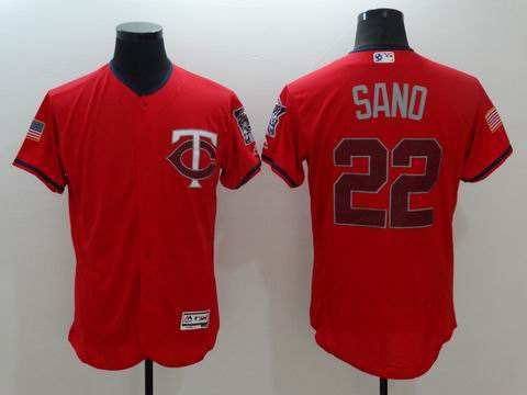 MLB Minnesota Twins #22 Miguel Sano red flexbase jersey