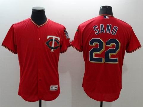MLB Minnesota Twins #22 Miguel Sano red jersey