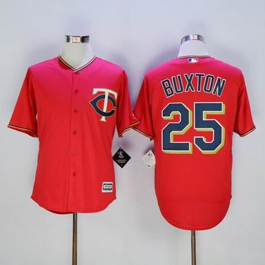 MLB Minnesota Twins #25 Byron Buxton red jersey