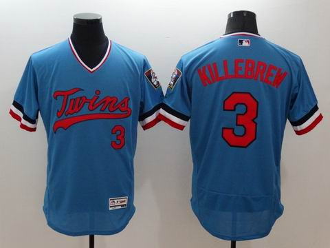 MLB Minnesota Twins #3 Harmon Killebrew blue jersey