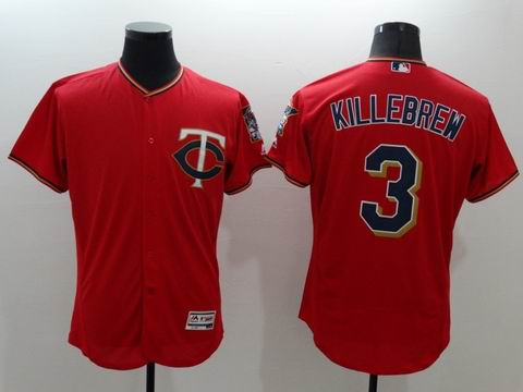MLB Minnesota Twins #3 Harmon Killebrew red jersey