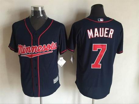 MLB Minnesota Twins #7 Joe Mauer blue flex base jersey