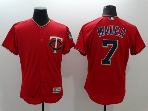 MLB Minnesota Twins #7 Joe Mauer red jersey