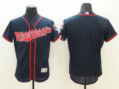 MLB Minnesota Twins blank navy flexbase jersey