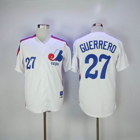 MLB Montreal Expos #27 GUERRERO white throwback jersey