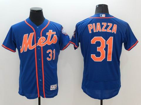 MLB New York Mets #31 Mike Piazza blue flexbase jersey