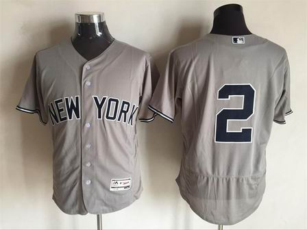 MLB New York Yankees #2 grey flex base jersey