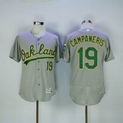 MLB Oakland Athletics #19 Campaneris grey flexbase jersey