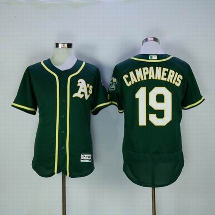 MLB Oakland Athletics #19 campaneris green flexbase jersey