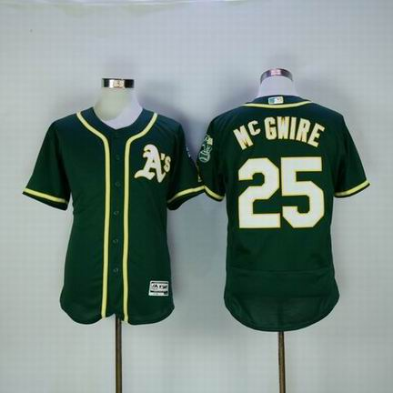 MLB Oakland Athletics #25 Mc GWIRE green flexbase jersey