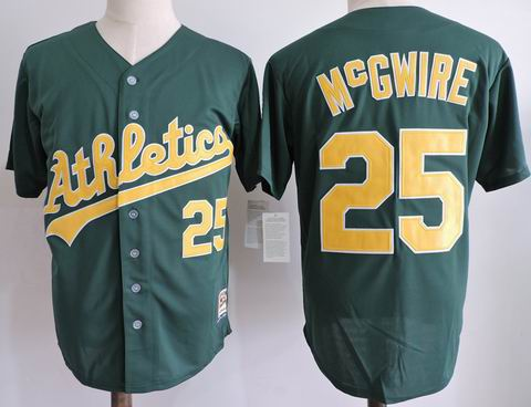 MLB Oakland Athletics #25 McGWIRE green m&n jersey